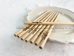 المكربنة وحيدة الاستعمال بقشة الخيزران منتج قابل للتحلل البيولوجي 8.0*200 مم