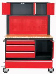 """Junmao 48 """"4 - Volver - cajón de la herramienta montada Cart-Red"""