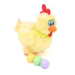 La disposizione morbida elettrica musicale del pollo della peluche della iarda Eggs il giocattolo