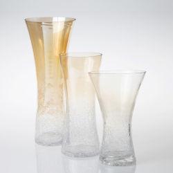 Vetro decorativo di alta qualità vaso di fiori di vetro Art Handmade Vaso per decorazione di nozze