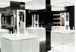 Madeira loja de cosméticos design de móveis Makeup Store Expositor Showcase