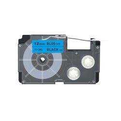 Blue PT-12bu Ink 리본 라벨에 호환되는 Casio 12mm Black Ez 레이블 프린터용 테이프