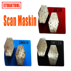 Scanmaskin Bauta Duplo Diamante concretas das sapatas de moagem