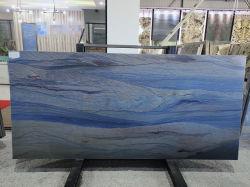 Natürliches Steinblau polierte,/abgezogener Azul Macaubas Quarzit für Fußboden-/Wandplatten/Fliesen/Countertop/Treppe/Sills/Spalte-/Hintergrundinnenraum/Außendekoration
