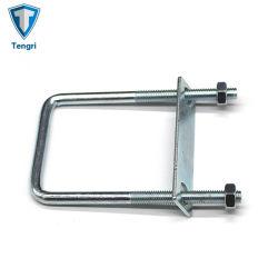 Galvanizado blanco azul tornillo en U abrazaderas de tubo de acero galvanizado