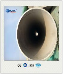 Zoll schweißte Spiegel-Ende 304 316 321 rostfreies nahtloses Stahlrohr und Gefäß für das Mit der Eisenbahn befördern des Staicase Aufbaus