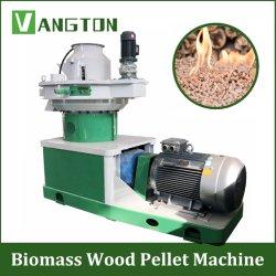 Biocombustível Energia arroz casca de arroz serragem Bamboo pó árvore ramos Granulador Máquina de prensa de briquetes/anel plano Die 1t/H 2t Agricultura Máquina de peletizadora de madeira