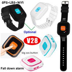 Mini Alarme de sécurité personnelle GPS GPS tracker avec détecteur de chute de périphérique V28