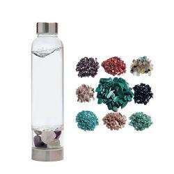 Commerce de gros de l'élixir de la guérison Magic Cristal de Quartz naturel Gem Stone perfusé l'esprit de l'Améthyste Eastral Gemstone bouteille en verre bouteille d'eau potable en acier inoxydable