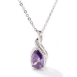 925 violet de bijoux en argent sterling Collier pendentif la Saint Valentin cadeau pour maman