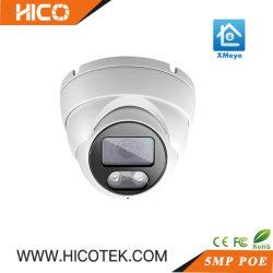 5MP Outdoor Sony Starlight WDR Poe de vidéosurveillance IP Dome Caméra vidéo grand angle avec système de sécurité Xmeye La Surveillance audio