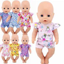 18인치 돌복 의류 셔츠 + 바지 핏 43cm 아기 인형 키즈용 티셔츠 최고의 생일 선물