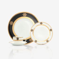 新しいヨーロッパの金の贅沢なディナーウェアセットのディナーウェアの王家 「 Fine Bone China Dinner Sets Restaurant 」