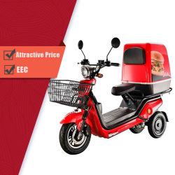 1000W CEE adulto de dos motores de motocicleta triciclo eléctrico de 3 ruedas para transporte de carga y la entrega de alimentos