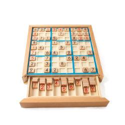 De houten Zesenveertig negen-Huis het Denken van het Raadsel van het Schaak van het Spel van het Stuk speelgoed van Sudoku Volwassen Logische Intelligentie van de Desktop