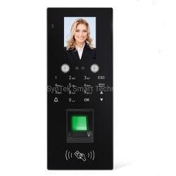 Идентификация лица и считывателя отпечатков пальцев терминал Contorl блокировки доступа к машине