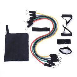 11PCS Latex Widerstandsband Set mit Türhaken in kleiner Größe Und für ABS-Workout-Fitness-Kits (RT-001)