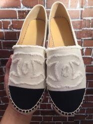 القرود المسطحة، القماش الكلاسيكي الكلاسيكي المصنوع من القماش داخل قطيع الأغنام عرق السندل السيدة أزياء أحذية النساء النعال