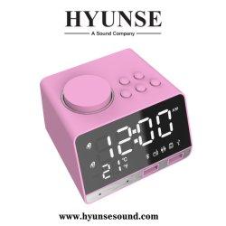 K11 multifunción altavoz Bluetooth LCD Digital Reloj Despertador Semanas de modo de visualización de temperatura