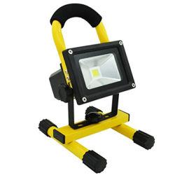 10W rechargeable portable 1150lm étanche à la lumière du jour de travail Camping Flood Spotlight