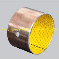 Cuscinetto imbussolante Bronze del Bush Oilless del cuscinetto di Oilless Bush del Metallo-Polimero di Sf-2y