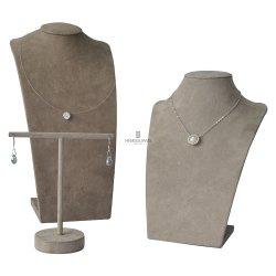 قطع مجوهرات من خشب الصلد أو تقليد عقد مجوهرات من نوع Fur موقف عرض متجر إرانج مع صندوق التغليف