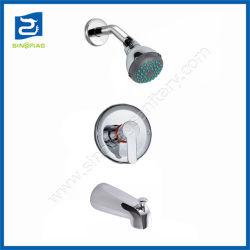 Baignoire Douche dissimulé haut pulvérisateur douche robinet mélangeur à poignée unique défini