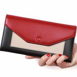 方法PU革デザイナー札入れの工場はするOEM/ODMの札入れの女性に財布のクラッチ・バッグ(WDL1514)を