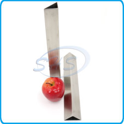 Edelstahl-dreieckiges Rohr für Dekoration mit Haarstrichfertigstellung