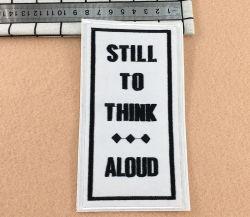 Paño fino personalizado bordado parches adhesivos para agregar a favoritos