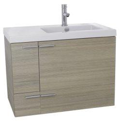 Le MDF 31'' de la mélamine seule salle de bains set de courtoisie avec dissipateur du côté droit