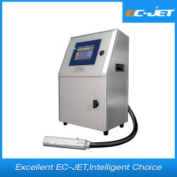 Código de lote de impresora de inyección de tinta/ Paquete /Huevo Fecha de caducidad de la impresión (EC-JET1000)