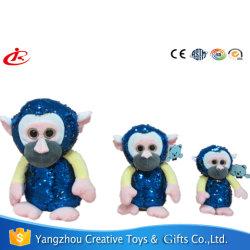 Два разных видов обезьян мягкие игрушки с пайетками для детей
