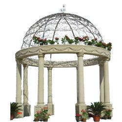 Steingazebo-schnitzender Marmorpavillion für antike im Freiendekoration