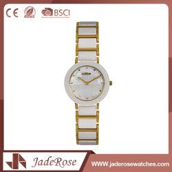 De unisex- Goud Geplateerde Modellen van het Horloge van het Kwarts van de Pols