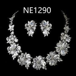 Свадьбу Crystal Овальный CZ ожерелья украшения, устраивающих CZ ожерелья украшения, непосредственно на заводе оптовая торговля