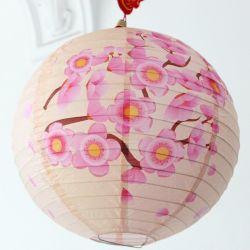 Belos 1PC 16polegadas 40cm Round lanternas de papel Papel Chinês Bola Lampion LED de evento festa de casamento aniversário decoração Cerimônia