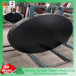 Своим модным дизайном лодки овальной формы дизайна базы Stainsteel мебель верхней стеклянной