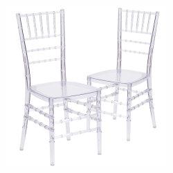 레진 폴리카보네이트 투명 아이스 웨딩 치아바리 의자