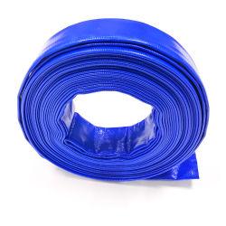 Le PVC souple à plat du tuyau flexible de vidange avec surface lisse et le tube