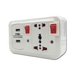 Elektrischer Stecker und Kontaktbuchsen USB-Aufladeeinheits-Universalkontaktbuchse USB-Adapter