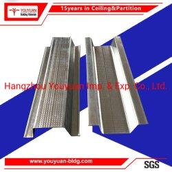 Aço galvanizado Metal Perfis de tecto falso Omega Furring Canal para a placa de gesso do sistema do teto