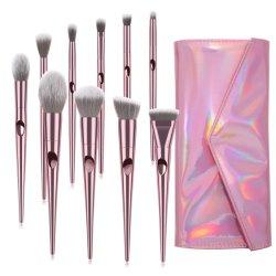 10pcs maquillaje Pinceles Accesorios de belleza ergonómico para las mujeres las herramientas de cosméticos
