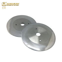 Corte de carburo de tungsteno pulido Slitter cuchillas Cuchillas circulares
