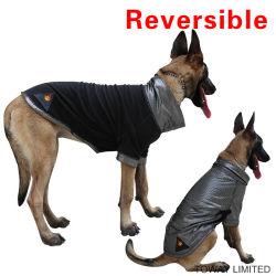 熱の反射羊毛犬のジャケットの可逆冬大きい犬の衣服