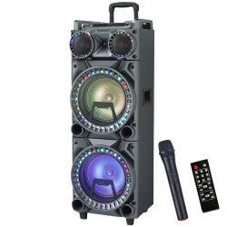 MP3プレーヤーLED軽いFM無線電池の方法のプロ可聴周波ホームシアターの屋外の携帯用トロリー党音楽強力なスピーカーのBluetoothの動力を与えられた実行中のスピーカー