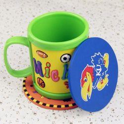 Mayorista de la fábrica de PVC de beber té de la goma de promoción de la copa de un posavasos