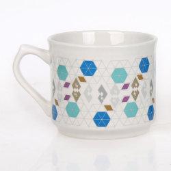 Tazza di caffè bianca su ordinazione all'ingrosso dell'acqua del tè di stampa di ceramica