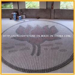 Rojo chino barato adoquines de granito gris/mosaicos de piedra de pavimentación para jardín
