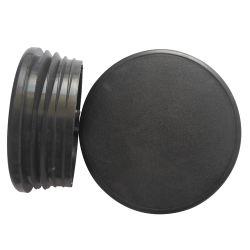 Forma redonda de la cubierta de plástico para tubo
